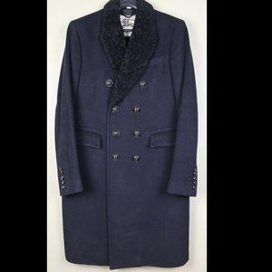 Burberry 100% Cashmere Fur Lapel Coat 40US